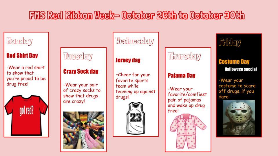 Red Ribbon Spirit Week at FMS!
