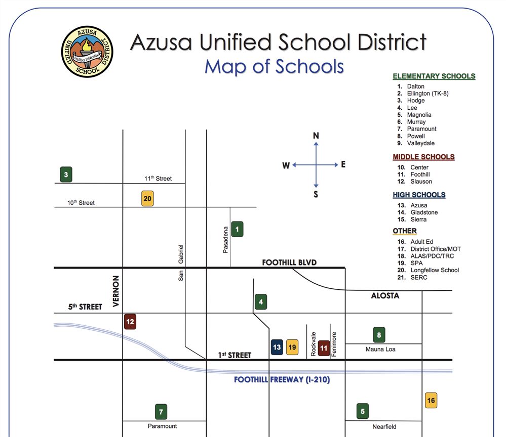 Preview of Map of Schools